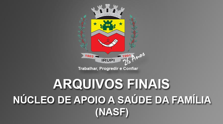 Arquivos Finais Corrigidos - NASF 2018