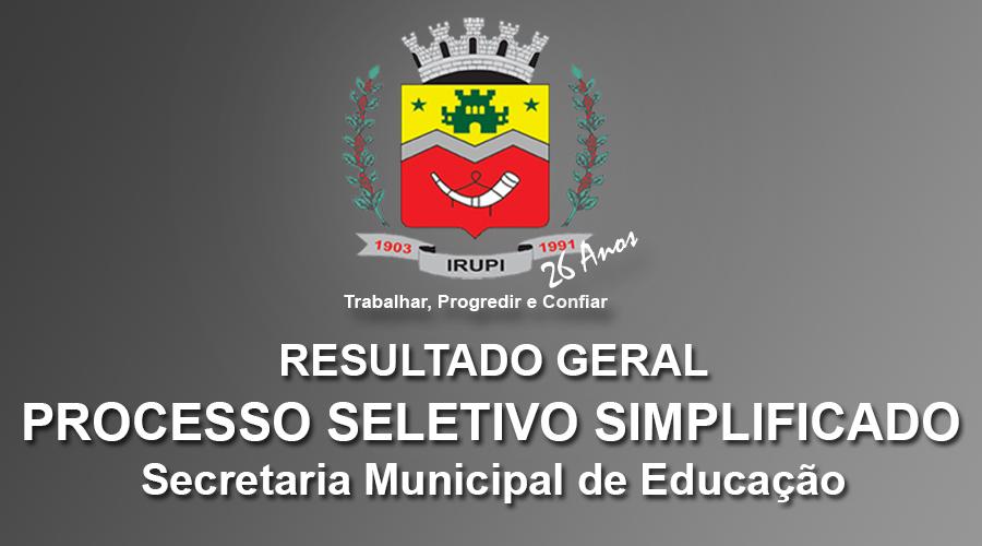 CLASSIFICAÇÃO FINAL - PROCESSO SELETIVO - EDUCAÇÃO