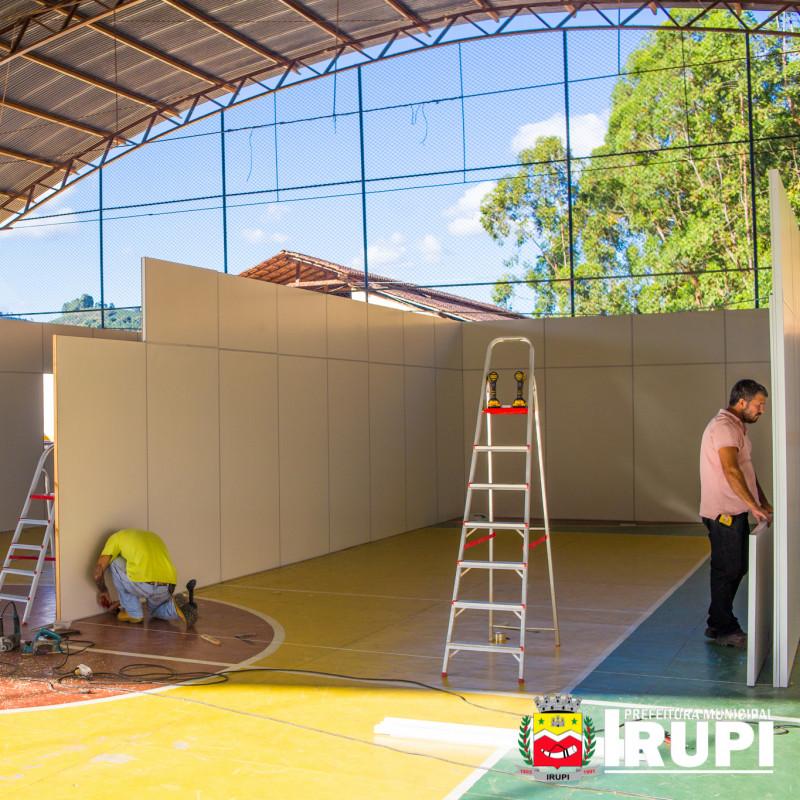 Construção de novas salas na Escola Sônia Maria