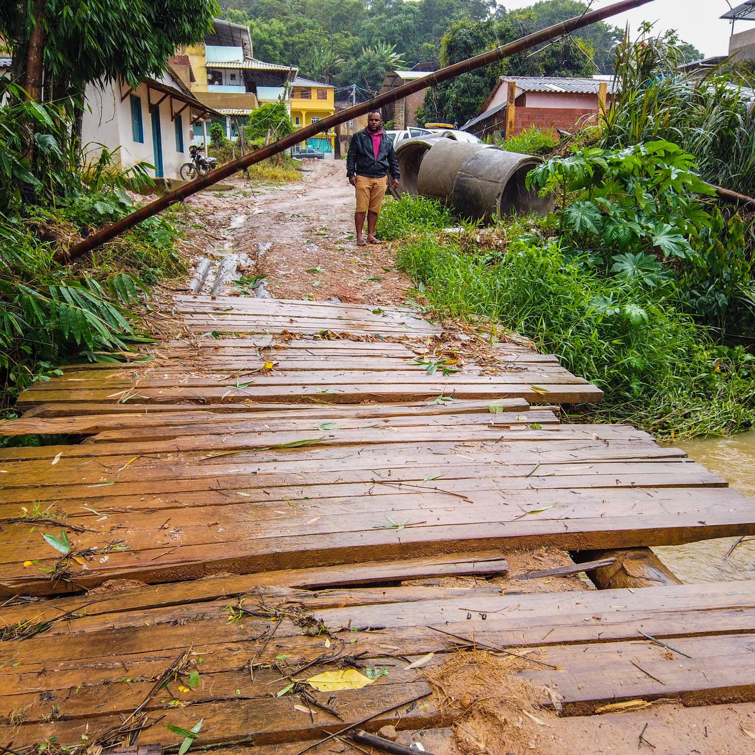Estragos causados pelas Chuvas em Santa Cruz