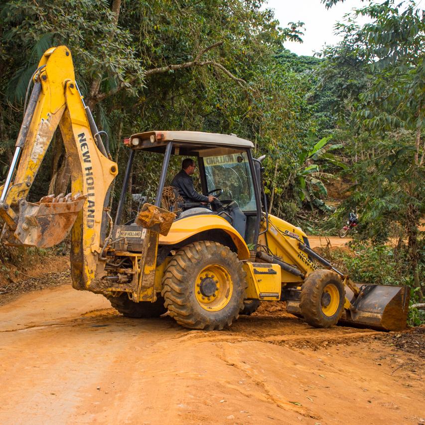 Obras nas estradas chiador