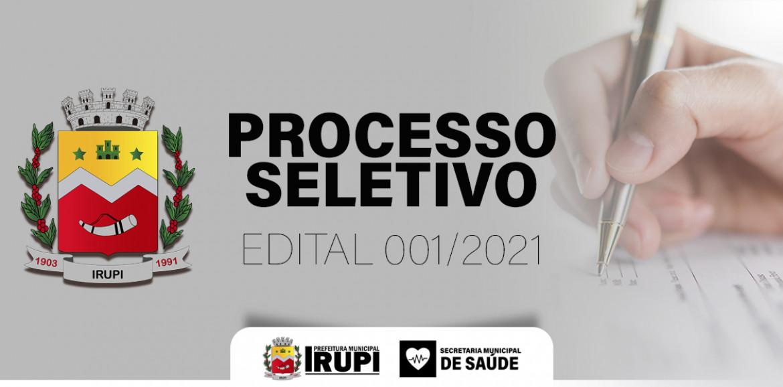 Processo Seletivo 001-2021 - Saúde